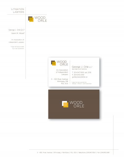 Wood Orle Identity Package